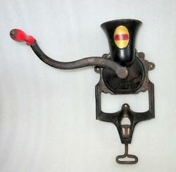 Vintage Old Rare Cast Iron Beatrice No. 3 Coffee Mills Grinder Made In England