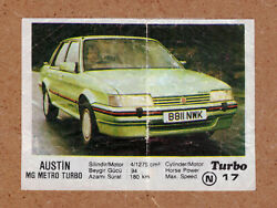 17 Original Authentic Turbo 1-50 Chewing Gum Wrapper Insert 1986 First Series