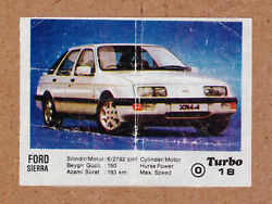 18 Original Authentic Turbo 1-50 Chewing Gum Wrapper Insert 1986 First Series