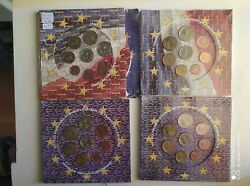 France 1999200020012002 First Euro Coin Sets Bu Sealed