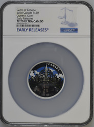 Queenand039s Gate 2018 Canada 30 Silver Coin Ngc Pf 70 Uc Early Release