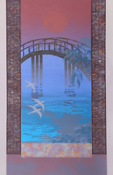 Unknown Artist Sunset Bridge Screenprint Signed And Numbered In Pencil