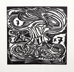 Pitt Cuerlis, Apokalypse 1, Woodcut, Signed And Numbered In Pencil