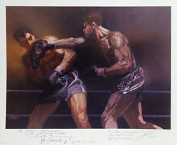 Robert Peak Max Schmeling And Joe Louis From Sports Illustrated Living Legends