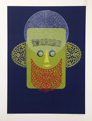 Eric Newton Lace Face Relief Print Signed And Numbered In Pencil