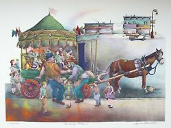 Seymour Rosenthal, The Merry Go Round, Lithograph, Signed And Numbered In Pencil