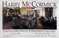 Harry Mccormick, Lincoln Del South - Fingerhut Gallery, Poster, Signed In Ink