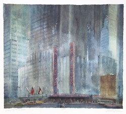 Rodell C. Johnson, Radio City Music Hall, Screenprint, Signed And Numbered In Pe