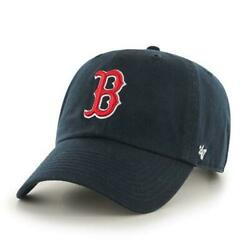 Boston Red Sox #x27;47 Brand Navy Blue Clean Up Adjustable Hat