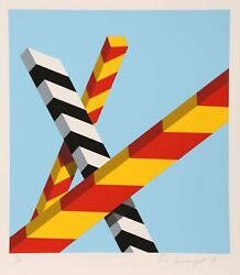 Allan Dand039arcangelo Sky Bars Screenprint Signed And Numbered In Pencil