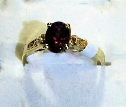 10ky Gold 0.94 Ctw Pink Tourmaline Solitaire Ring It0051