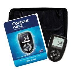 New W O Box Bayer Contour Next Blood Glucose Meter With Carry Case and Manual $4.99