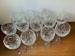 Waterford Ballylee Claret Wine Glasses 12 Never Used