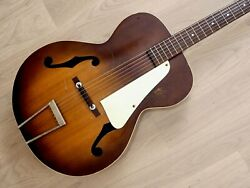 1950s Kay K34 Vintage Archtop Acoustic Guitar Solid Spruce Top, Reset And Refret