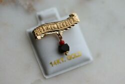 14k Solid Gold Curved Baby Pin Dios Me Bendiga Azabache 100 Autentic