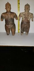 Authentic Pair Of Pre-columbian Jalisco Male And Female Figures