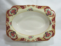 Crown Ducal Crd38 Oval 9 Serving Bowl Pink Red Blue Floral 20's Gc