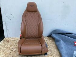 Bentley Continental Gt Front Left Driver Seat Complete Leather Brown Oem 12-15