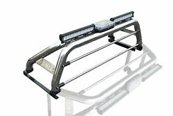 To Fit 2016+ Isuzu D-max Rodeo Roll Bar + Leds + Led Bar + Beacon +tonneau Cover