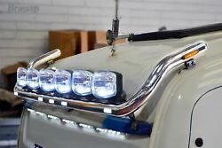 To Fit Daf Xf 105 Super Space Cab Roof Bar Type C + Flush Leds + Spot + Horns X2