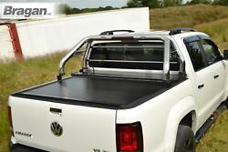 To Fit 12-16 Ford Ranger Roll Bar + Led Bar + Beacon + Rollback Tonneau Cover