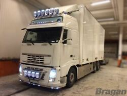 To Fit Volvo Fh Series 2 3 Stainless Steel Grill Light Bar A + Round Spot Lamps