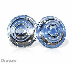 19.5 Universal Front Stainless Steel Wheel Sleeves Trims Covers Truck Lorry