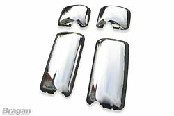 To Fit Daf Xf 95 Polished Stainless Steel Mirror Covers Truck Lorry 4 Piece Set