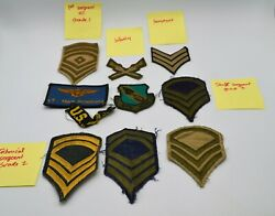 Us Military Chevron Patches Infantry Sergeant Grade 1 2 3 4th Wing Lot Vtg Army