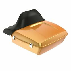 Hard Candy Gold Flake Chopped Tour Pack Wrap-around Backrest F/ 97-20 Harley