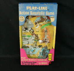 Nos New Vintage 1960s Marx Nutty Mads Action Bagatelle Pinball Game Mint In Box