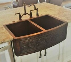 New Copper Farmhouse Kitchen Sink Guide Design Hammered Handmade