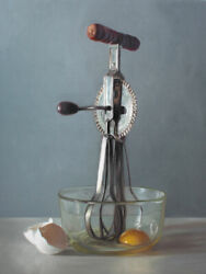 Vintage Egg Beater - Food Oil Painting Archival Giclee Print Poster Wall Art