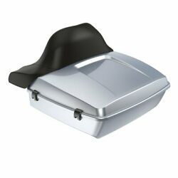 Wrap-around Backrest Barracuda Silver Chopped Tour Pack F/ 1997-2020 Harley