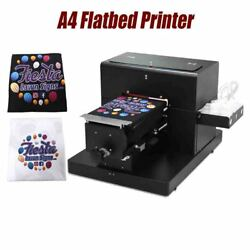 A4 Flatbed Printer For T-shirt Pvc Card Phone Case Multi Color Printing Machine