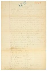 Manuscript Petition To Found Chapter Of An African-american Fraternal Lodge