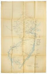 John D Alden / Map Battles Skirmishes And Other Events In New Jersey In 1775 1st