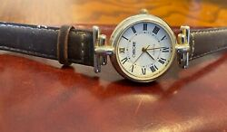 Women's Silver Tone Cherokee Watch With Gold Tone Accents, Leather Band