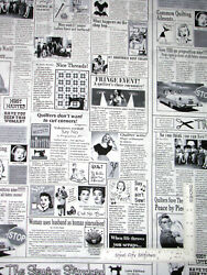 Newspaper Ads Sewing Themed Cotton Fabric Timeless Treasures C9699 By The Yard $11.95