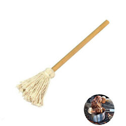 15.7'' Bbq Brush Cotton Bbq Basting Mop Long Wood Handle Sauce Barbecue Brushes