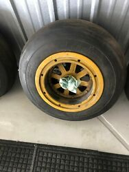 Two North American Aviation T-6 Main Wheels With Brake Drums