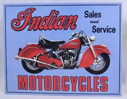 Indian Motorcycles Sales And Service Man Cave Motorcycle Memorabilia Metal Sign