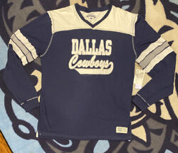 Nwt Dallas Cowboys Vintage Apparel Legends Collection 2xl Blue Whie Gray Stitch