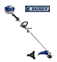 Badger 26 Cc Full Crank 2-cycle 2-in-1 Straight Shaft Trimmer And Bonus Harness