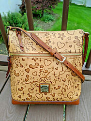 Dooney And Bourke 🐭 Disney Rare Lovebirds Letter Carrier 🏰 Mickey And Minnie