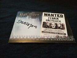 Harry Potter And The Half Blood Dave Legeno Fenrir Greyback Auto Card