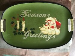 Vintage Decorative Wooden Christmas Tray - In Good Condition