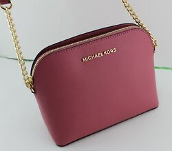 NEW AUTHENTIC MICHAEL KORS CINDY TULIP LG LARGE DOME CROSSBODY WOMEN#x27;S HANDBAG $99.99