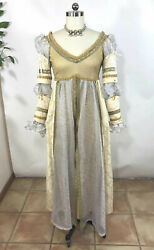 VTGHandmade Gold Renaissance Medieval Princess Dress Costume SCA LARP Cosplay 12