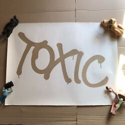 Very Rare - Tox Tox09 Toxic - Signed Screen Print 2/10 Invader Banksy Obey